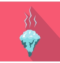 Glacier melting icon flat style vector image