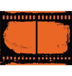 grunge film strip vector image