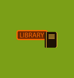 Library book vector