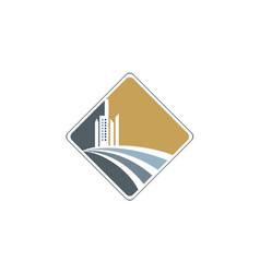 modern building design company logo vector image vector image