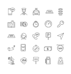 Taxi icons set vector image vector image