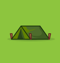 tourist tent isolated for camping icon vector image