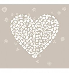 wedding heart2 vector image vector image