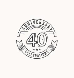 40 years anniversary celebration logo template vector