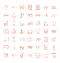 49 fast icons vector image
