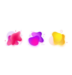 abstract fluid gradient pink purple yellow spots vector image