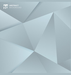 abstract gray and blue polygonal background vector image