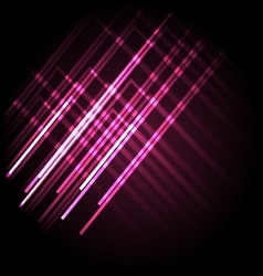 Abstract neon pink background with lines vector image