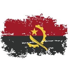Angola grunge flag vector