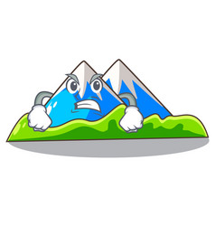 Angry mountain scenery isolated from the mascot vector