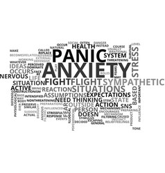 Anxiety no need to worry text word cloud concept vector