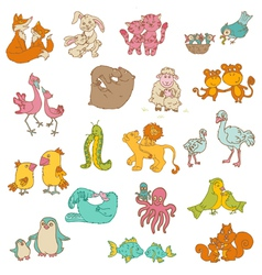 baanimals with moms vector image