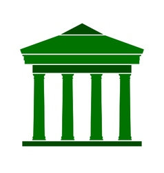 Bank symbol icon on white vector