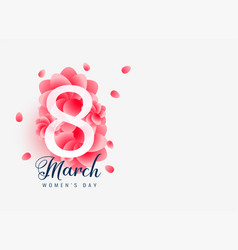 Beautiful march 8 happy womens day card design vector