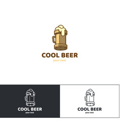beer logo six vector image