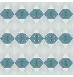 Blue polygon background vector image