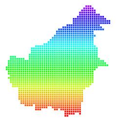 Bright dotted borneo island map vector