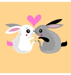 bunnies lovers vector image