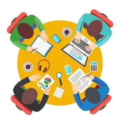 Business Meeting in office teamwork vector image