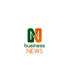 business news badge vector image