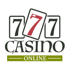 Casino online isolated icon gambling slot machines vector