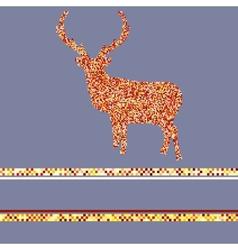 Christmas Deer Pattern Card vector image