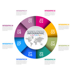 circle chart business infographics design vector image