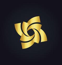 Circle gold spin logo vector