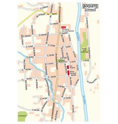 city map bajo boquete chiriqui panama vector image