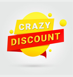 crazy discount design for any purposes vector image