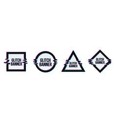 Creative of geometric glitch vector
