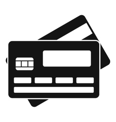 Credit card icon simple style vector image