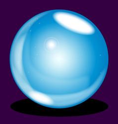 crystal ball vector image