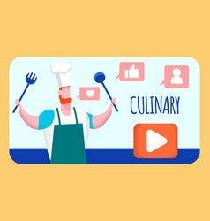 Culinary internet video blog vector