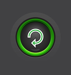 Dark circle glossy reload button vector