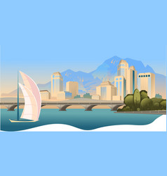 day city landscape vector image