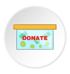 Donation icon flat style vector