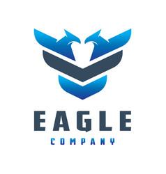 eagle animal logo design vector image