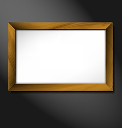 Empty wooden frame vector