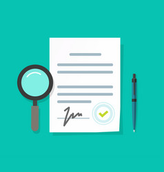 Expertise or inspection or business legal vector