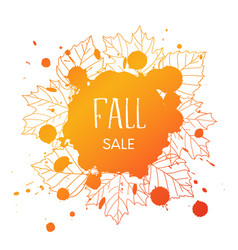 fall sale vector image