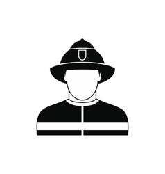 Fireman black simple icon vector