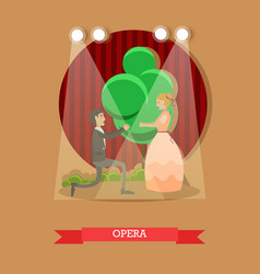 flat opera singers vector image