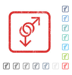 Gay love symbol icon rubber watermark vector