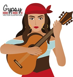 Gipsy design vector image