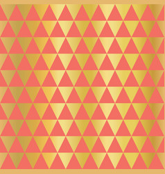 Gold foil coral triangle seamless texture vector