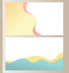 Ground and sky with clouds mountains hills set vector