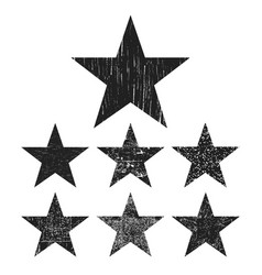 Grunge star collection vector
