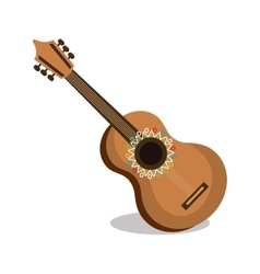 Guitar instrument musical icon vector
