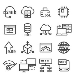 hosting icon database symbol vector image